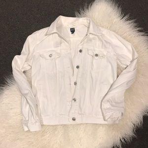 Gap White Denim Jacket